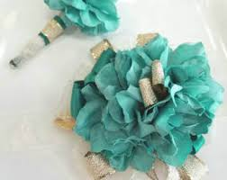 Corsage And Boutonniere Prices Gold Wrist Corsage Etsy
