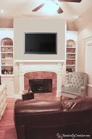 fireplace tv nook solution chaotically creative