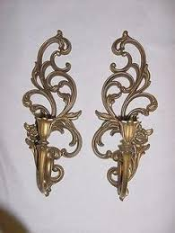home interior sconces vtg home interior homco 5 arm wall sconce 5 wheat etched votive