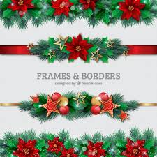 christmas borders vector free download