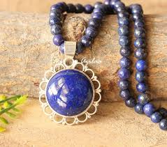 silver pendant necklace handmade images Lapis lazuli gemstone sterling silver pendant handmade necklace at jpg