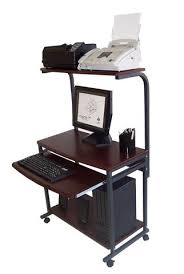 Small Portable Computer Desk Sts 7801 Compact Portable Computer Desk W Hutch Shelf Keyboard
