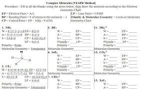 vsepr practice worksheet free worksheets library download and