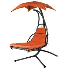 Outdoor Dream Chair Hanging Chaise Lounger Chair Arc Stand Air Porch Swing Hammock