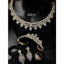 ladies necklace designs images Ladies zercon necklace set ladies necklace ada designer jpg