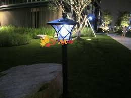 height 1 5m led solar lawn l outdoor light landscape garden