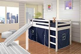 Build Your Own Loft Bed With Slide by Amazon Com Twin Tent Loft Bed With Slide Finish White Color