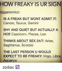 Freaky Sex Memes - freaky zodiac memes memes pics 2018