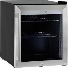 mini bar refrigerator glass door black branded retro compact bar fridge 50 litre
