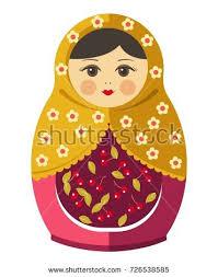 russian doll matryoshka isolated vector illustration stock vector