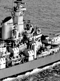 Bathtub Battleship Photo Taken Of Uss Iowa In 1943 Shows Elevator Shaft Built For Fdr