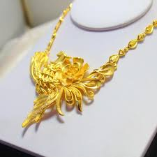 beautiful necklace gold images Wholesale beautiful bride married ms fenghuanghua chain gold jpg