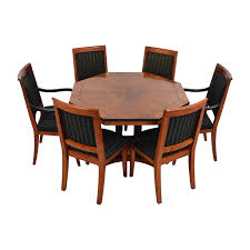 Used Dining Room Furniture 54 Off Vintage Dining Table Set With Gold Accent Tables