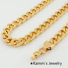 gold man chain necklace images Top quality never fade man 595 9 5 mm fashion simple design gold jpg