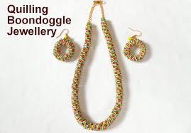 quilling earrings set how to make quilling boondoggle jewellery set