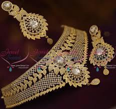choker necklace jewelry images Nl7682 cz grand choker necklace bollywood diamond design imitation JPG