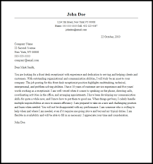 receptionist cover letter professional front desk receptionist cover letter sle writing