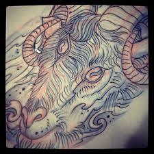 satanic goat skull adrian baxter shewalkssoftly