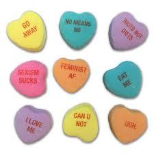 s candy hearts feminist candy hearts feminist apparel