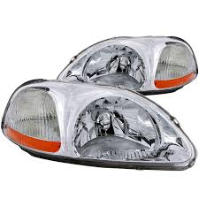 honda civic headlight anzo usa honda civic 96 98 headlights chrome