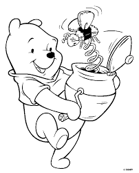 winnie pooh bear disney coloring pages