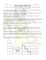 periodic table worksheet for middle periodic table printable copy alien periodic table worksheet answers