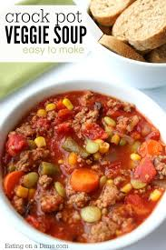 easy crock pot vegetable soup recipe slow cooker vegetable beef soup