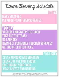 Clean Bedroom Checklist Best 25 Dorm Cleaning Ideas On Pinterest Dorm Rooms Decorating