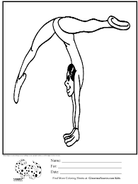 18 gymnastics coloring images coloring sheets