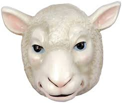 amazon com forum novelties child u0027s plastic animal mask sheep