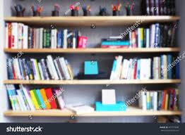 modern library bookshelves full books stock photo 457777840