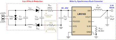 Wiring Diagram Power Supply Also Converter Circuit On Wide Vin Synchronous Buck Converter Powers Smart Sensors Power