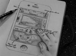 iphone app sketch design wireframe pinterest application