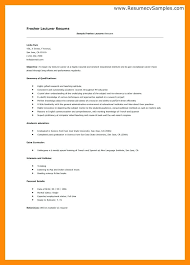 Sample Resume For Lecturer Free by Sample Lecturer Resume Teacher Resume Sample Free Word Documents