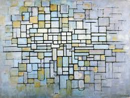 Blue Gray Color Piet Mondrian Composition In Blue Gray And Pink 1913 Trivium