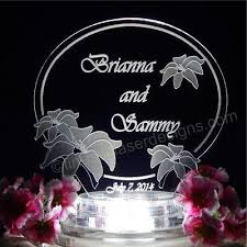 l cake topper personalized flower wedding cake topper acrylic cake top