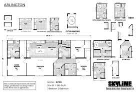 Arlington House Floor Plan by Skyline Homes In Sugarcreek Oh Manufactured Home Manufacturer