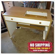 koala sewing machine cabinets used used koala horn sewing machine desk cabinet workstation crafts table