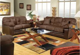 7pc rooms to go living room furniture set includes brown colored