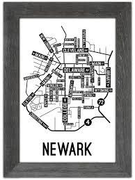Newark Map Newark Delaware Street Map Print Street Posters