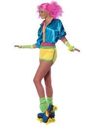 ladies clown halloween costumes 80 u0027s neon skater costume 39464 fancy dress ball