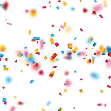 colorful celebration background with defocused confetti vector