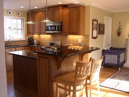 Kitchen Remodel With Island by Kitchen Island With Step Up Bar Area Uba Tuba Granite Countertops