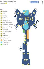 lax gate map los angeles airport lax terminal 3 map map of terminal 3 at