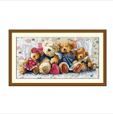 wholesale needlework diy dmc cross stitch sets for embroidery kits