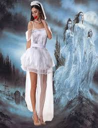ghost wedding dress 2017halloween women vire bra strapless dress scary