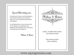 wedding program template vintage filigree by myexpressionshop
