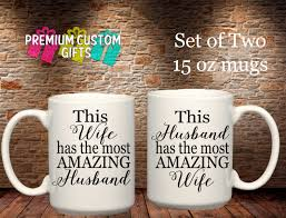 set of two 15 oz ceramic mugs this wife husband has the most
