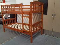 Bunk Bed Frames Solid Wood by Furniture Place Bunk Bed Zara Single Solid Wood In Antique Oak Colour