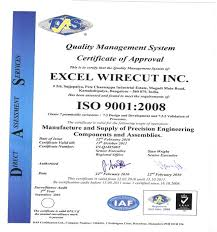 Iso 9001 Quality Policy Statement Exle by Excel Wirecut Inc